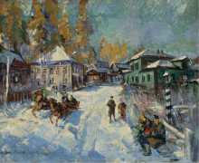 Русская зима - Коровин, Константин Алексеевич