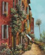 Улочка на фоне лагуны - Борелли, Гвидо (20 век)