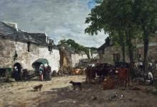 Скотный рынок в Дауле - Буден, Эжен