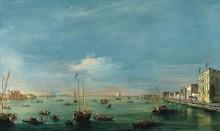 Вид на канал Джудекка и набережную Дзаттере, Венеция - Гварди, Франческо