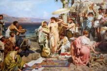 Фрина на празднике Посейдона в Элевзине - Семирадский, Генрих Ипполитович