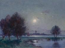 Берега Луары под луной, 1911 -  Пюигадо, Фердинанд дю