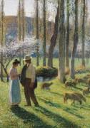 Крестьянин и девушка, 1903 - Мартен, Анри Жан Гийом