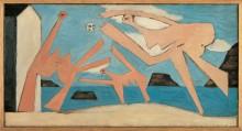 Купальщицы, играющие в мяч - Пикассо, Пабло