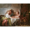 Выигранный поцелуй - Фрагонар, Жан Оноре