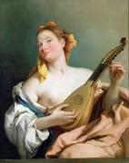 Девушка с мандолиной - Тьеполо, Джованни Баттиста