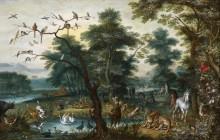 Райский пейзаж с грехопадением - Брейгель, Ян (младший)