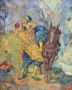 Добрый самаритянин, по работе Делакруа (The Good Samaritan (after Delacroix)), 1890 - Гог, Винсент ван