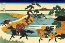 Река Сумида - Кацусика, Хокусай