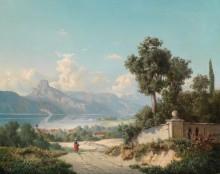 Вид на Гмюнден с замком Орт - Уллик, Антон Гуго