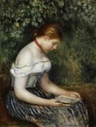Девушка за чтением книги - Ренуар, Пьер Огюст