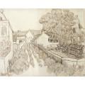 Тупиковая улица с домами (Dead-End Street with Houses), 1890 - Гог, Винсент ван
