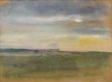 Пейзаж, закат, 1869 - Дега, Эдгар