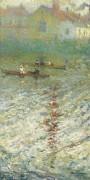 Лодки на берегу озера, 1914 - Боджио, Эмилио