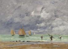 Рыбаки и лодки у Трувилля, 1892 - Буден, Эжен
