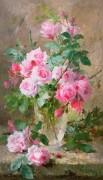 Розы в стеклянной вазе - Мортельманс, Франс