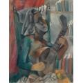 Женщина с мандолиной - Пикассо, Пабло