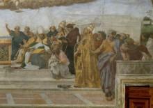 Станца делла Сеньятура: Диспута (фрагмент) - Рафаэль, Санти
