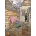 Розовая корова - Шагал, Марк Захарович