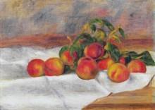 Натюрморт с персиками - Ренуар, Пьер Огюст