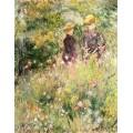 Две женщины в саду с розами - Ренуар, Пьер Огюст