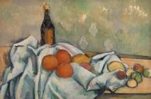 Бутылка и фрукты - Сезанн, Поль