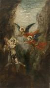 Ангелы, посещающие святого отшельника - Моро, Гюстав