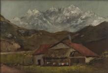 Хижина в горах - Курбе, Гюстав