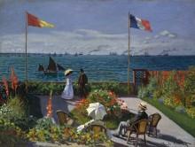 Сад в Сент-Адрес, 1867 - Моне, Клод