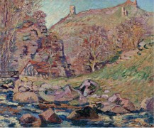 Руины замка Крозан и мельница, 1893 - Гийомен, Арманд