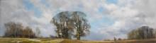 Зимний пейзаж с охотниками и гончими - Шеперд, Девид (20 век)