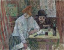 В кафе Ла Мие - Тулуз-Лотрек, Анри де