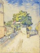 Вход в Мулен де ла Галетт (Entrance to the Moulin de la Galette), 1887 - Гог, Винсент ван
