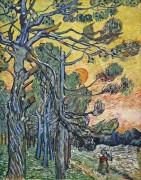 Сосны на фоне вечернего неба (Pine Trees against an Evening Sky), 1889 - Гог, Винсент ван