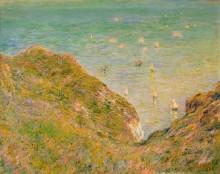 На скале в Пурвилле, яркая погода, 1882 - Моне, Клод