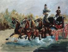 Воспоминание о Ницце. Мчащийся английский экипаж - Тулуз-Лотрек, Анри де