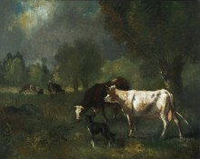 Пейзаж с пасущимися коровами - Труайон, Констан