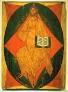 Деисусный чин (Владимир, Успенский собор, 1408) 5. Спас в силах (314 х 220 см) - Рублев, Андрей