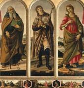 Триптих со святыми Антонием, Рохом и Екатериной Александрийской - Боттичелли, Сандро