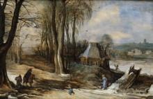 Зимний пейзаж с фигурами - Брейгель, Ян (младший)