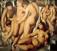 Женщины в бане - Лемпицка, Тамара
