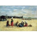 Жены рыбаков на пляже - Буден, Эжен