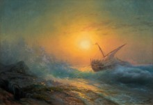 Закат над бурным морем - Айвазовский, Иван Константинович