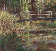 Пруд с водяными лилиями, в розовом свете, 1900 - Моне, Клод