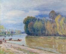 Канал Луана весной - утро, 1897 - Сислей, Альфред