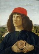 Портрет мужчины с медалью Козимо Медичи Старшего - Боттичелли, Сандро