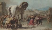 Шествие троянского коня в Трою - Тьеполо, Джованни Баттиста