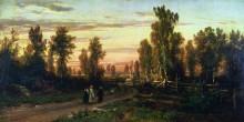 Вечер, 1871 - Шишкин, Иван Иванович