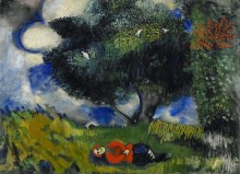 Поэт и птицы - Шагал, Марк Захарович