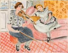 Скрипачка и девочка - Матисс, Анри